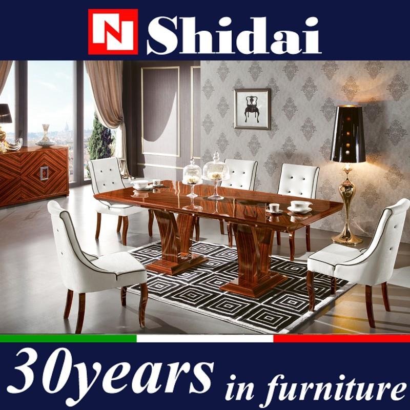 Mesa de comedor de madera set, alto brillo mesa de comedor y silla ...