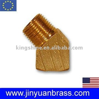 45 degree Brass female/male Elbow pipe fitting
