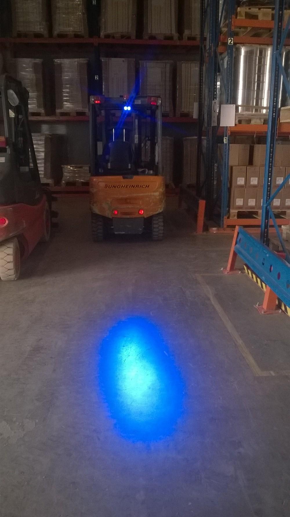 Forklift Bluespot Blue Led Safety Spotlight Warning Light
