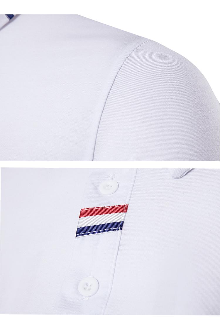 2019 di alta qualità casuale bianco puro del commercio all'ingrosso logo personalizzato camicia di polo