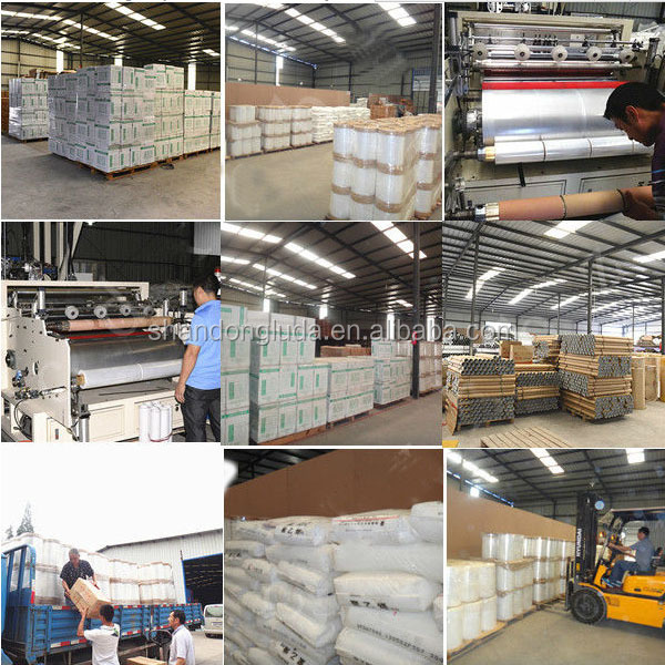 ShanDongLuda factory price wholesale white hand and mechanical LLDPE stretch wrapping film