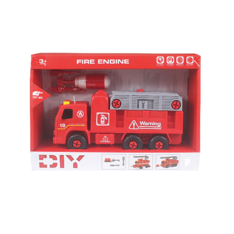 Delicate Appearance Hot Sells Plastic Fire Engine Toy Truck With IC Music