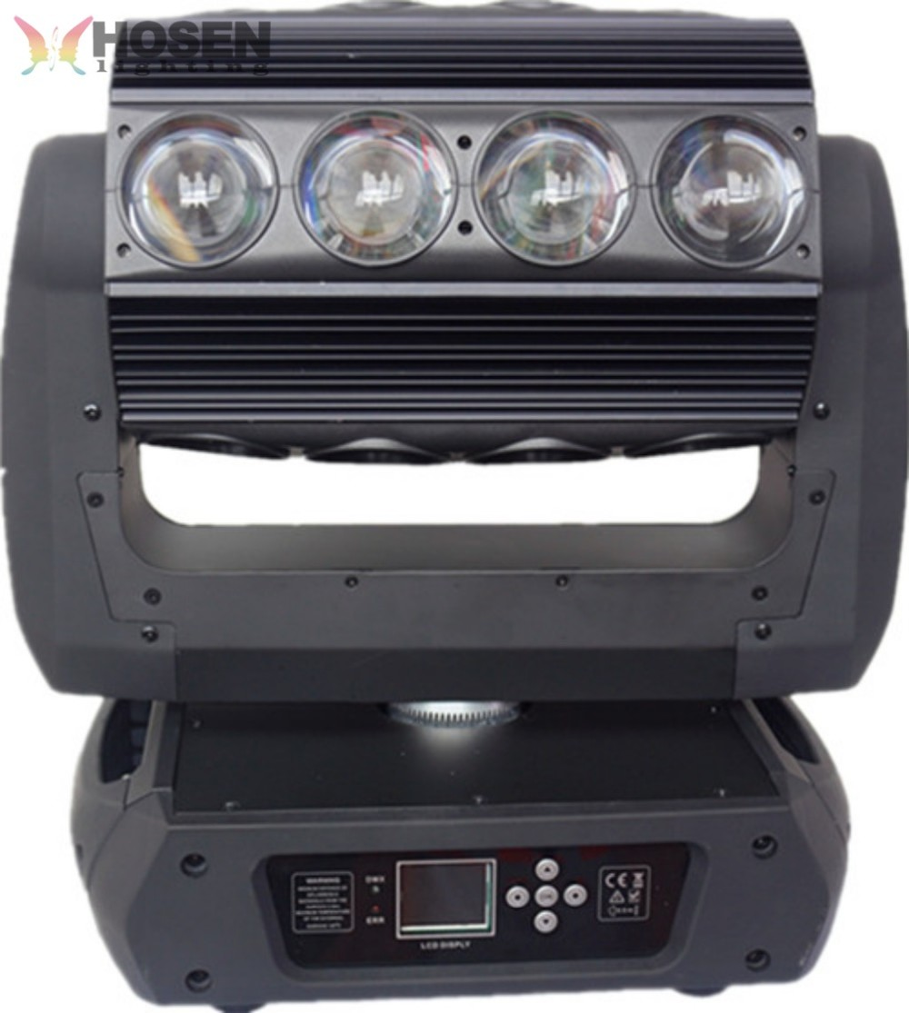 Hot selling product 360 degrees rotation 16pcs 25w RGBA 4in1 beam led wash moving head stage light