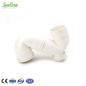 Eco - Friendly UPVC Fittings S Trap Toilet Waste Pipe