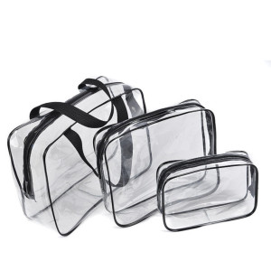 Swimming products transparent package PVC travel package set three sets of printing manufacturers customized customization