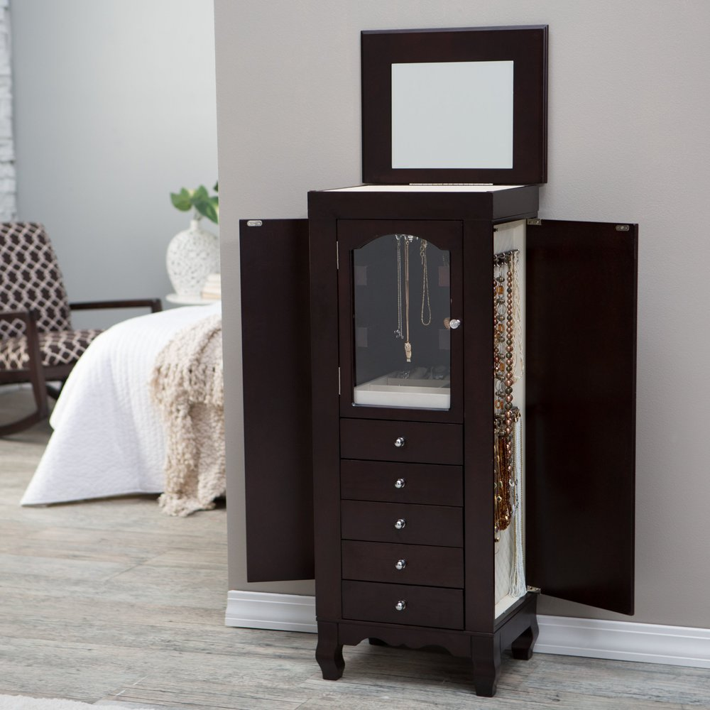 Luxury wood jewely armoire cheap bedroom furniture sale Luxury wood furniture