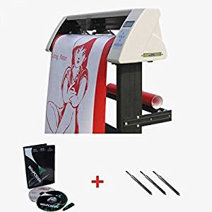 """SigntigerGentle 24"""" Redsail Vinyl Sign Cutter Plotter with Contour Cut Function- Stylish Design and Solid Support"""