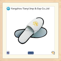 Open toe hotel slipper white slipper made in china hotel white sponge slippers
