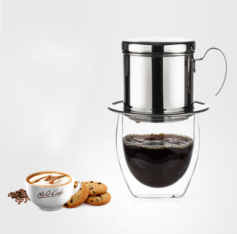 Portable Stainless Steel Vietnam Cold <strong>Drip</strong> <strong>Coffee</strong> Brewing Filter <strong>Maker</strong>