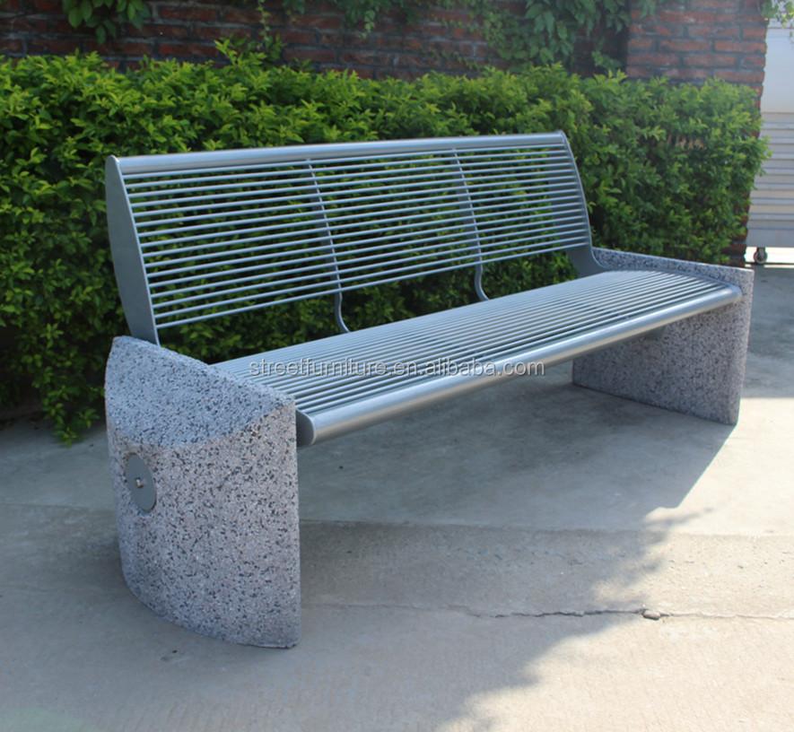 Banco de jard n de hormig n al aire libre de metal banco del parque bancos para el patio - Banco jardin barato ...
