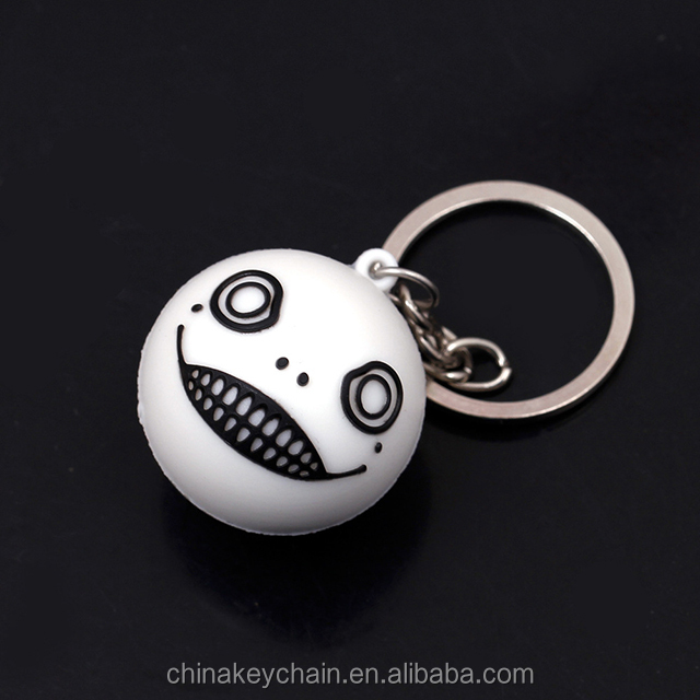 Game NieR Automat key ring chain pvc cute keyring for wholesale