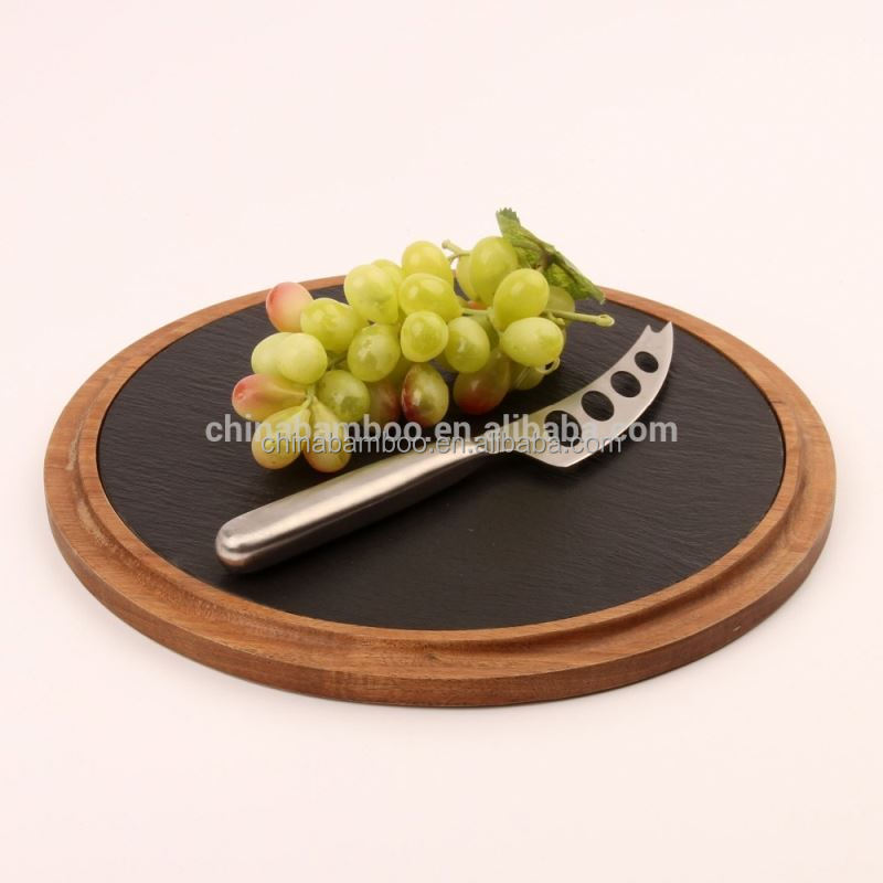 cheese cutting board set, decorative cheese board, natural wooden paddle board