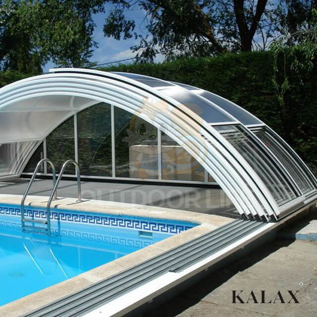 The best polycarbonate roof shelter pool cover aluminum pool ...