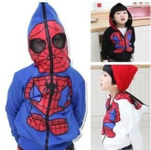 new 2014 coats and jackets for children baby boy spider man coats children outerwear boy hoodies