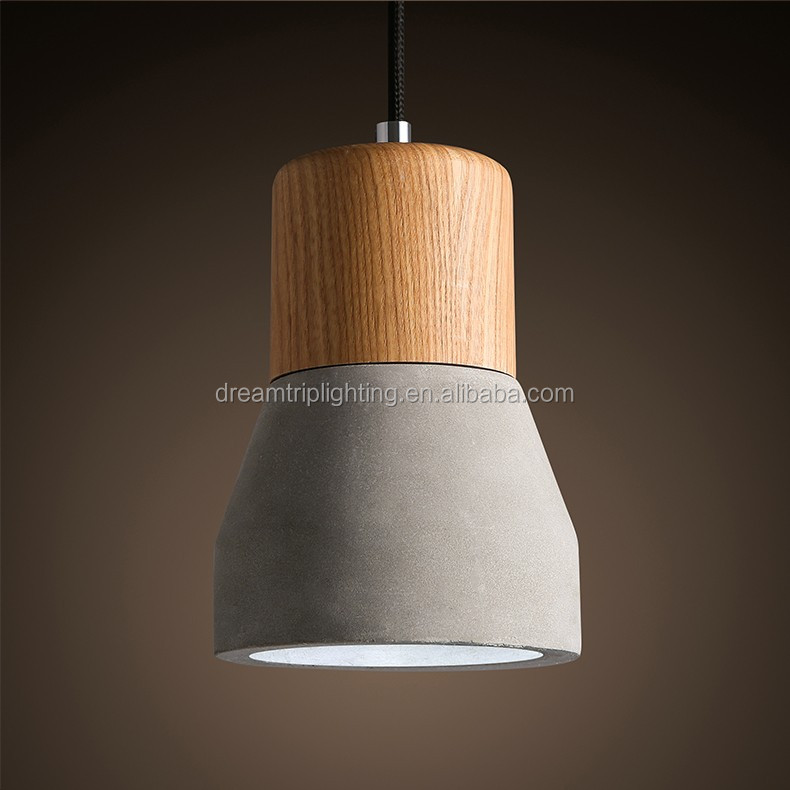 <strong>modern</strong> Decorative Hanging Concrete Wood <strong>Modern</strong> Pendant Light lamp