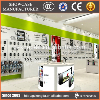 New design mobile phone store furniture shop decoration for Mobile furniture design