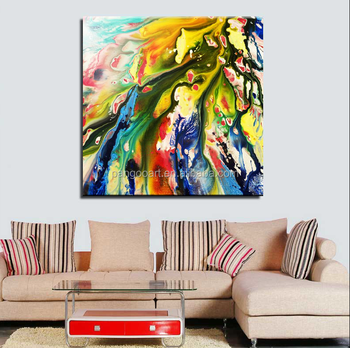100 Hand Painted Colorful Abstract Group Canvas Oil Paintings Buy