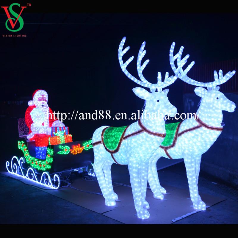 Super Lighted Santa Claus Outdoor Christmas Decorations, Lighted Santa  VX47