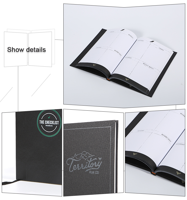 Customized printing small quantities Hard cover designs school classmate notebook