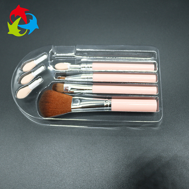 China supplier custom packing box eyelash packaging plasticttray for make up brush