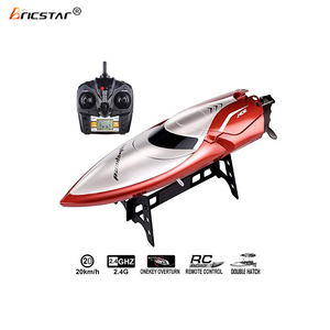 Automatic overturn 2.4G high speed rc boat kits, battery powered toy rc ship with LCD screen