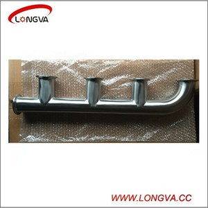 Sanitary stainless steel manifold pipe fitting tri clamp spool