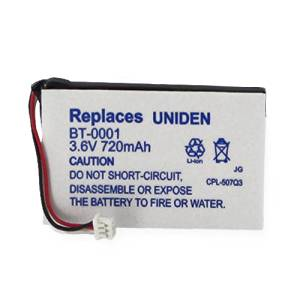 Sanyo CLTE40 Cordless Phone Battery Li-Ion, 3.6 Volt, 720 mAh - Ultra Hi-Capacity - Replacement for Uniden BT-0001 Rechargeable Battery