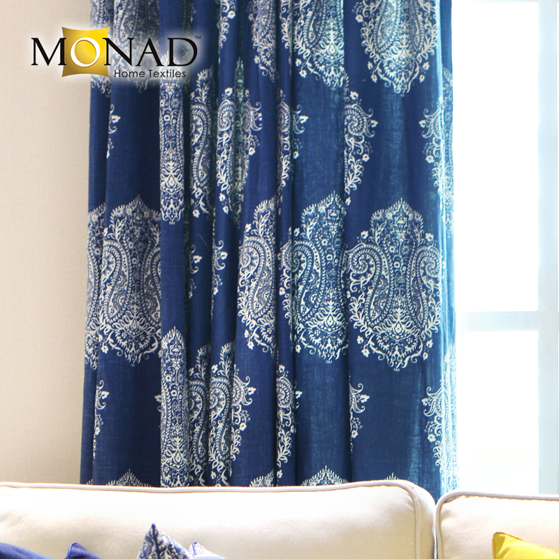 Decorative paisley elegant china window fabric striped curtains for bedroom sale