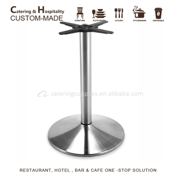 Stainless Table Base, Round Stainless Steel Table Leg
