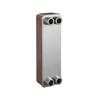 Copper brazed plate type heat exchanger for water air heat exchange