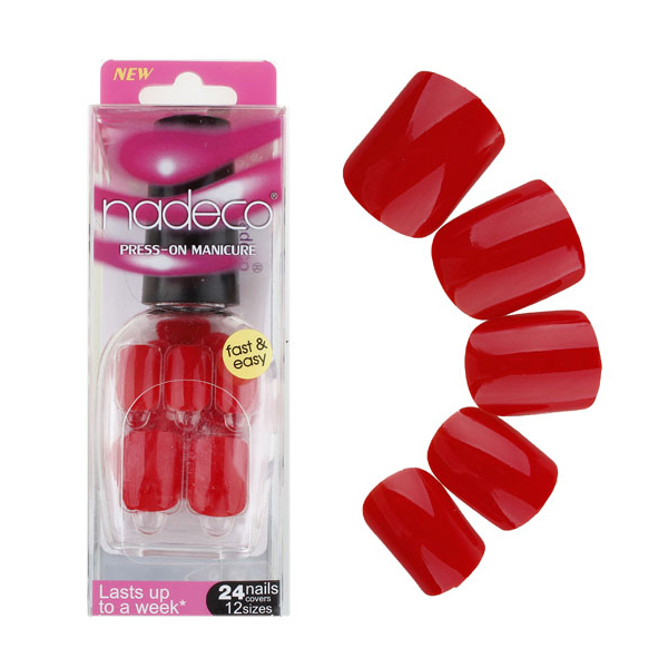 24PCS Arfificial Nails Tips Press On Manicure Short Length