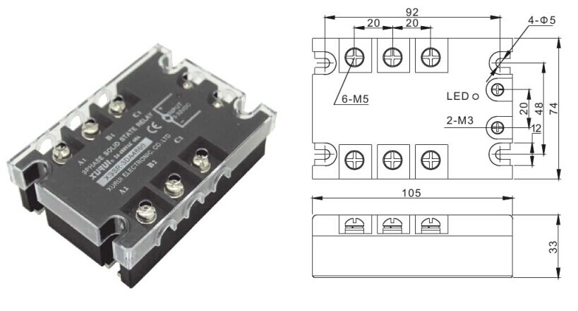 Phasevac Relay Of Voltage Control Solid State Relay Fotek - Solid state relay nais