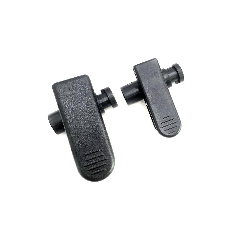 Negro de cable de plástico clip de cable para auriculares micrófono altavoz auricular