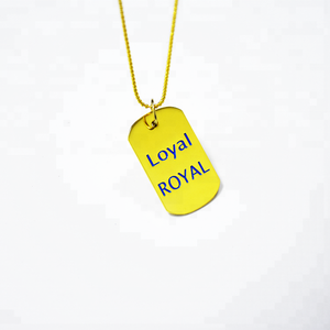 Hot fashion custom engraved pendant with necklace