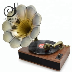 2016 new arrival vintage bluetooh brass gramophone horn for sale
