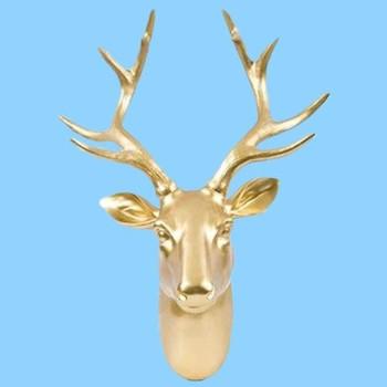 Craft Wall Decor Custom Gold Deer Head Wall Hanger - Buy Craft Deer ...