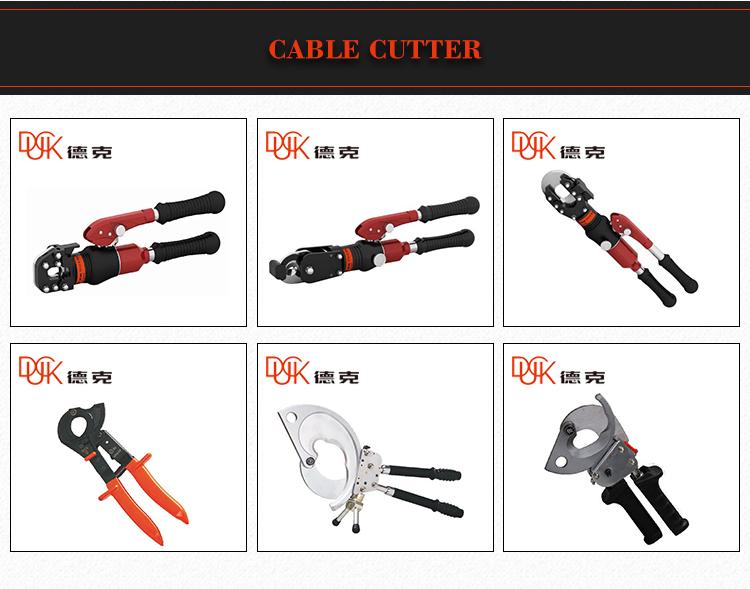 Độ chính xác cao tự động pin powered thép thủy lực cable cutter