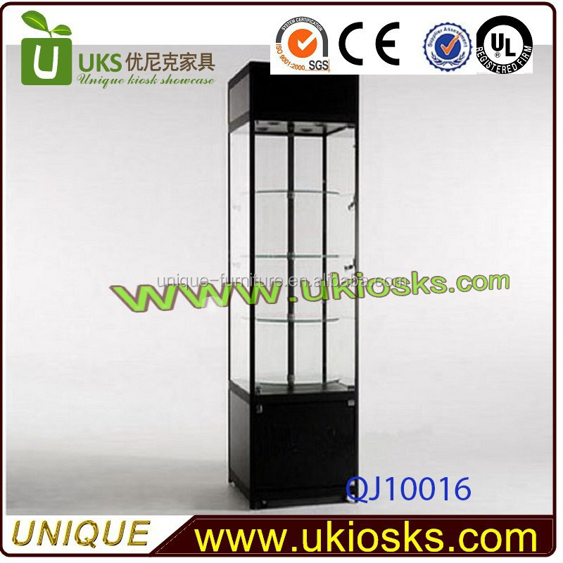 wall mounted watch glass display showcase/cabinet,modern wooden watch display stand with led lights