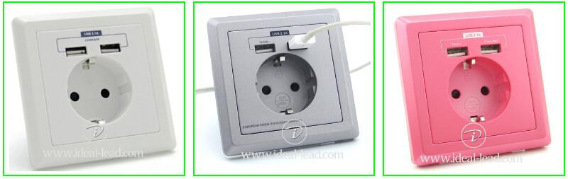 euro usb wall socket