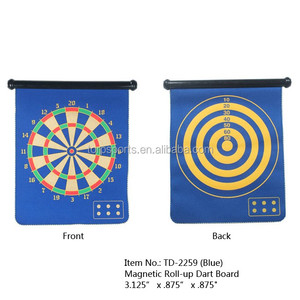 Blue color Magnetic Roll-up Dart Board and Bullseye Game with Darts
