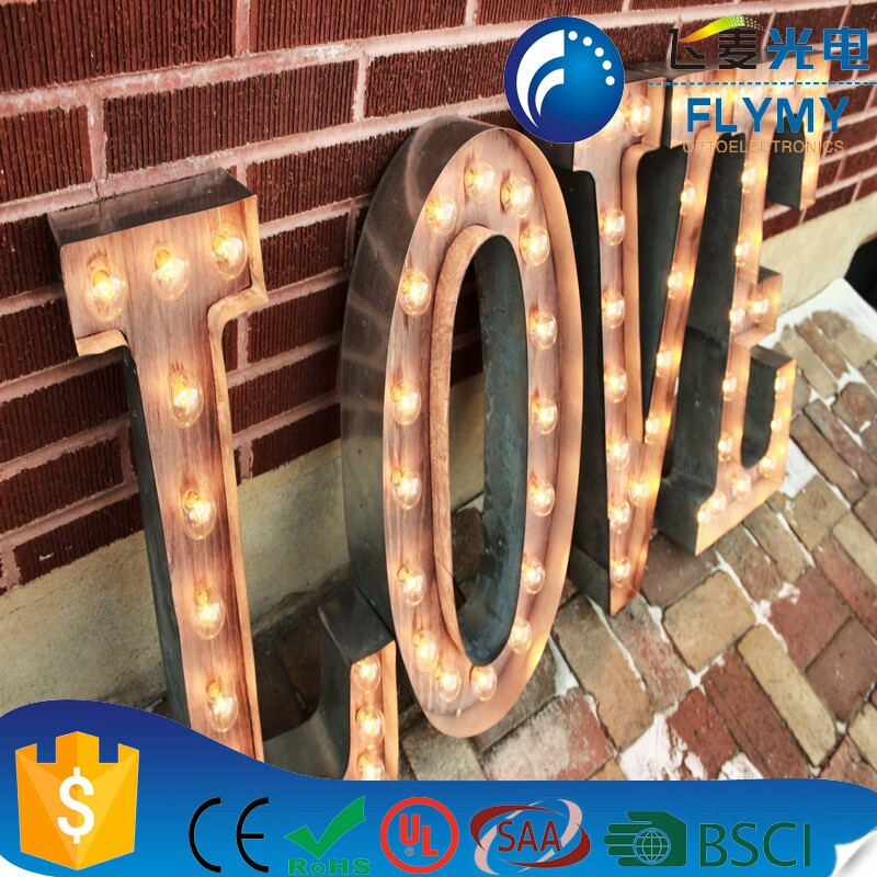 Alibaba Best Selling Decorative Light up Metal LED Alphabet S Sign Marquee LED Letter Lights Sign Party Wedding Decor