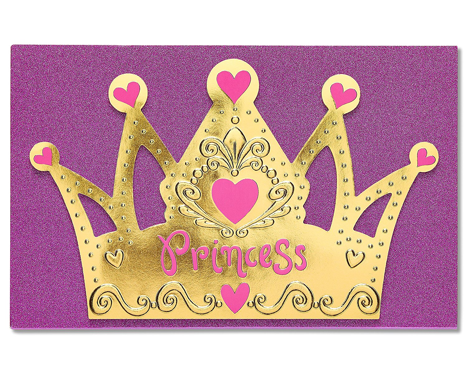 Buy american greetings card cardstock paper princess crown birthday american greetings card cardstock paper princess crown birthday for girl 5801295 m4hsunfo