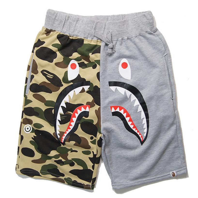 Shark Fierce Blue Men's Quick Dry Beach Board Shorts ... |Shark Board Shorts For Men