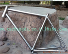 Titanium MTB bike frame with taper head tube Ti bicycle frame Di2 routing intern gear cable customized 29er Ti MTB bike frame