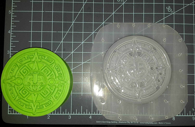 Aztec Art Plastic Mold, bath bomb mold, Resin Mold, aztec Mold, mould, soap mold, wax mold, sun dial mold, calender mold