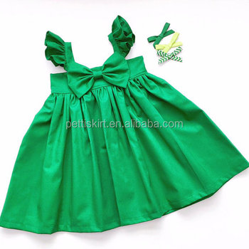 Western Hot Baby Dress Girl Party Wear Children Frocks Designs Plain ...