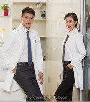 long sleeve 100% cotton doctor uniforms white lab coat