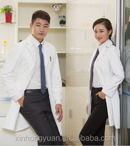 long sleeve 100% cotton doctor uniforms white lab coat