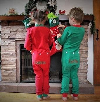 Monogram Button Butt Flap Christmas Baby Pajamas - Buy Christmas ... 09921365f