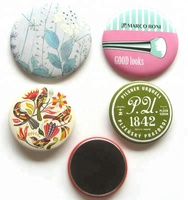 customized printed round shape metal refrigerator magnet iron fridge magnet